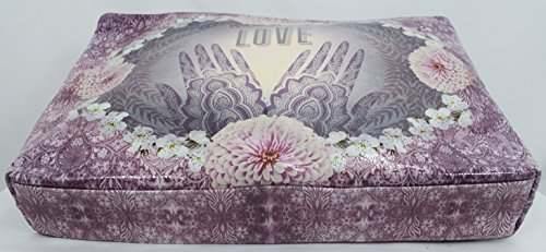 Love Henna Designs Oil Cloth Large Make-up or Accessory Travel Bag by Papaya (Image #2)