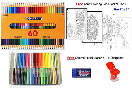 Colleen 785 Colored Pencil 30 Pencils 60 Colors Best For Adult Coloring Books