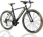 PANTHER(Japanese Brands) Hybrid Bike 21speeds,Shimano Shifting System Split Controller,Lightweight Aluminum Fr