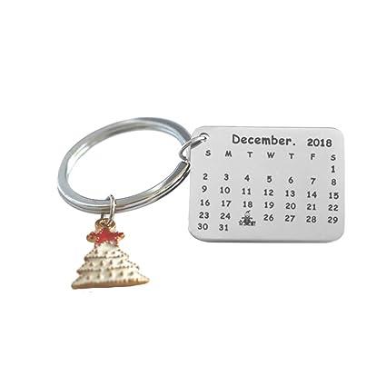 Haodou Navidad Llavero Calendario Calendario de Acero ...