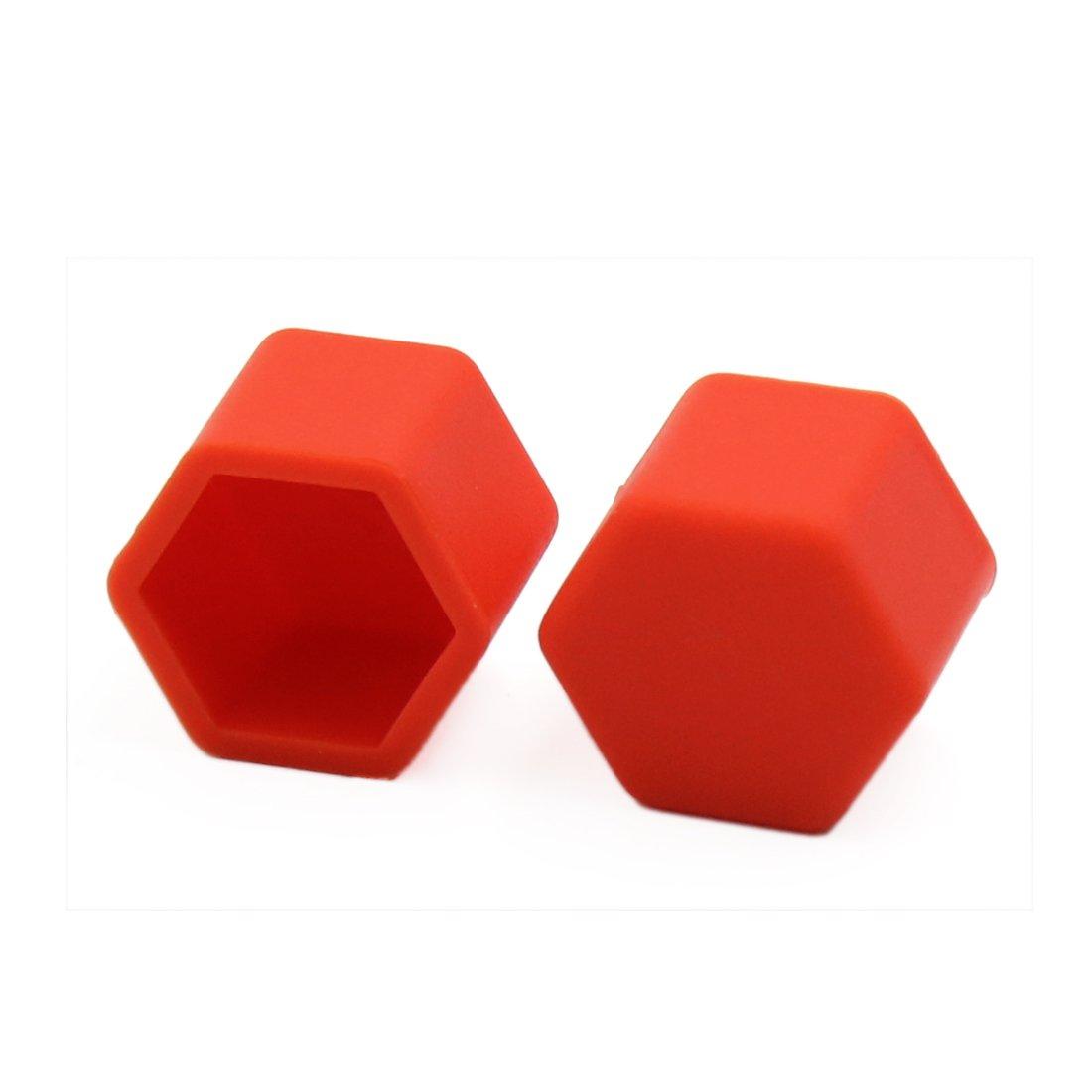 Sourcingmap/® 20pcs 19MM Lumineux Rouge Auto Voiture Silicone Boulon///écrou Roue Cache-vis moyeu