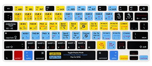 Serato Keyboard Shortcuts - HRH Serato Scratch Live Shortcuts US Keyboard Cover Silicone Skin for MacBook Air 13,for MacBook Pro 13