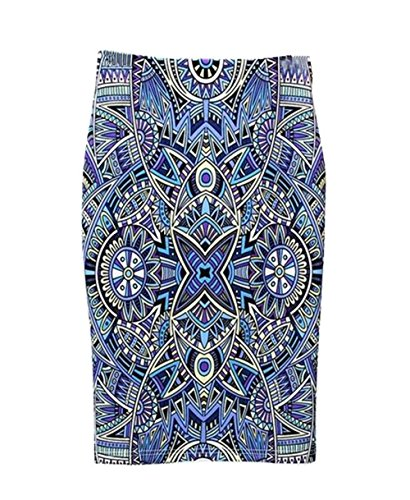 Femelle Au Genou Blue1 Skirt Jupe Haililais Vintage Fendue Imprimer Femme Tendance ElGant Jupe Haute Fit Taille Floral Jupe Slim Jupe EqpAvp