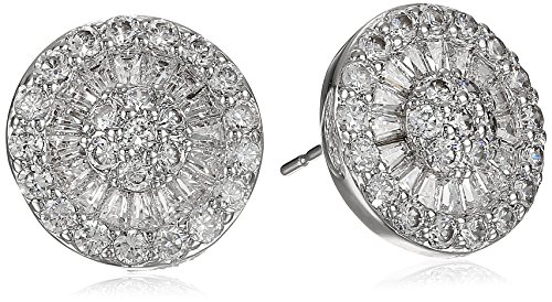 """CZ By Kenneth Jay Lane """"Classic"""" Multi-Cubic Zirconia Button Post Stud Earrings, 6 CTTW"""