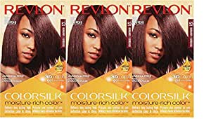 Revlon Colorsilk Moisture Rich Hair Color, Burgundy No.52, 3 Count