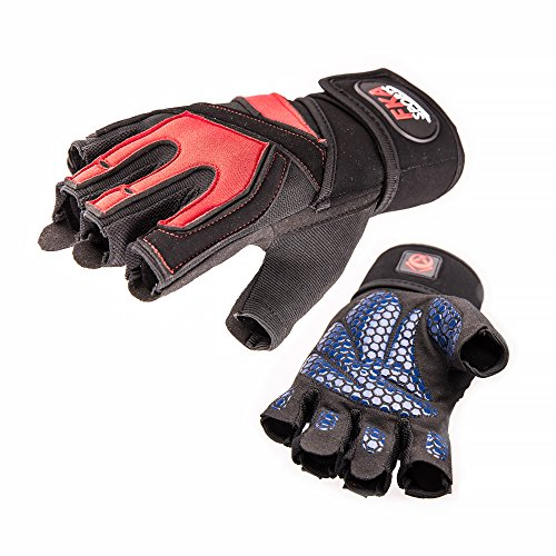 FKA Sports - Best Gym Gloves for Training - For Weight Lifting Grips - For Man & Women - Ultralight, Breathable & Durable Gloves with Anti-slip padded (Wrap Elastic Wrist Captain Sports)