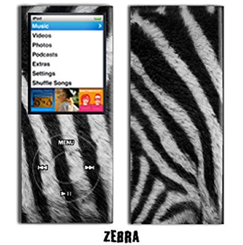 - MightySkins Protective Vinyl Skin Decal Cover for Apple iPod Nano 4G (4th Generation) wrap sticker skins - Zebra