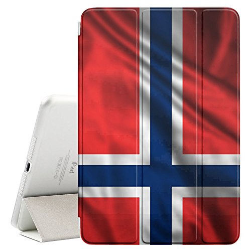 - FJCases Norway Norwegian Waving Flag Smart Cover Stand + Back Case with Auto Sleep/Wake Function for Apple iPad Air 2