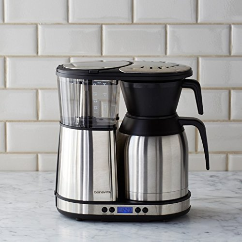Bonavita BV1900TD Automatic Programmable Coffee Brewer, Silver