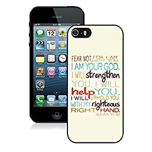 Bible Verse Iphone 5 5s Case Black Cover by Maris's Diary