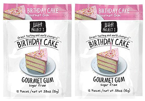 Project 7 Sugar Free Gum 0.53oz (Birthday Cake, 2 - Project 7 Birthday Cake