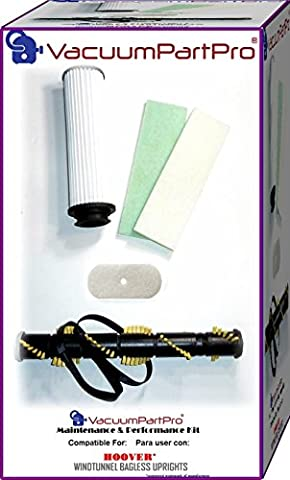 Hoover WindTunnel Bagless Upright Maintenance and Performance Kit By Vacuum Part Pro - Bagless Upright Round Hepa Filter