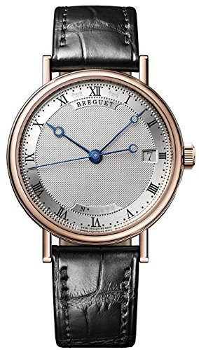 breguet-classique-silver-dial-date-18k-rose-gold-automatic-ladies-black-leather-strap-watch-9067br-1