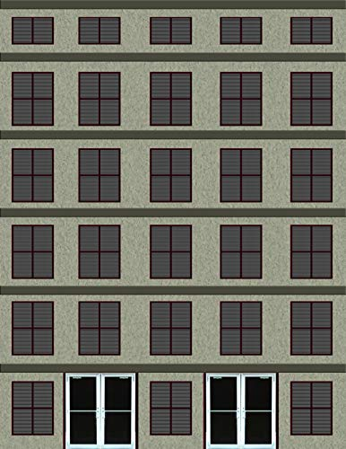 O Scale Multi-Story Building Cardstock Kit (Tan Stucco)