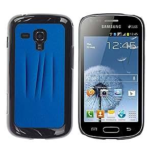 Be Good Phone Accessory // Dura Cáscara cubierta Protectora Caso Carcasa Funda de Protección para Samsung Galaxy S Duos S7562 // Lines Abstract Meaning Deep