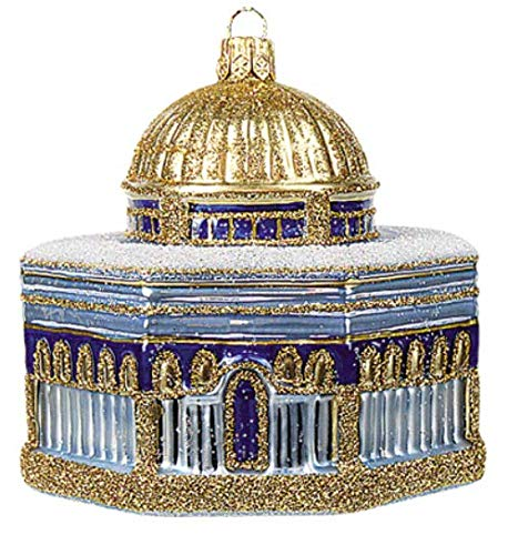 - Dome of The Rock Israel Polish Glass Christmas Ornament Travel Souvenir