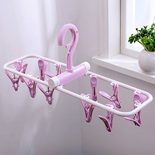 SUOWO Folding Portable Clip Drip Hangers for Baby Clothes So