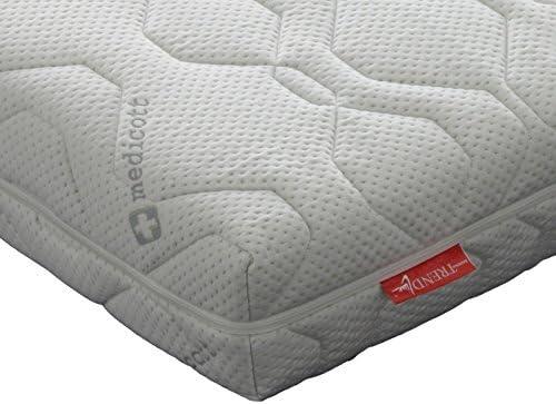 Badenia Trendline BT 310 H3 - Colchón de espuma fría (superficie con puntos), color blanco, espuma de poliuretano con espuma de poliuretano de doble cara, ...