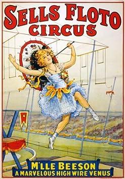 TZ67 samfme vende Floto alta de Venus circo Carnaval cartel ...