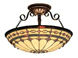 Elk 641-Bc Diamond Ring 3-Light Semi-Flush Mount, 11-Inch, Burnished Copper