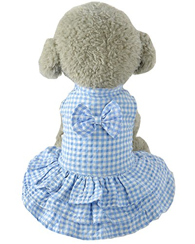 [S-Lifeeling Plaids Teddy Dog Clothes Comfortable Puppy Dress Spring Summer Sweet Pet Costumes] (Bull Rider Costume Toddler)