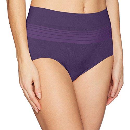 Warner's Women's No Pinching No Problems Seamless Brief Panty, Dark Amethyst, M -