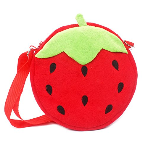 Facebecd Kids Adorable Plush Shoulder Bag Coin Wallet Purse Pouch Crossbody (Girls Strawberry Sweetie Costumes)