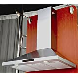 Kitchen Bath Collection 30-inch Wall-mounted Stainless Steel Range Hood with Touch Screen Control Panel, Capable...