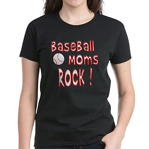 CafePress Baseball Moms Rock ! - Womens Cotton T-Shirt (Baseball Moms Rock)