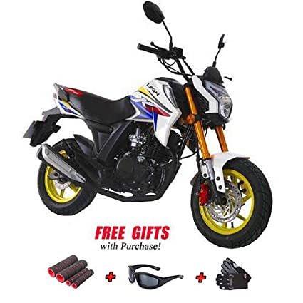lifan 150cc gas motorcycle adult motorcycle moped scooter kp mini 150  street motorcycle bike fully assembled with x-pro gloves, sunglasses and  handgrip