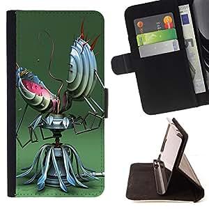 For HTC DESIRE 816,S-type Divertido robot Resumen- Dibujo PU billetera de cuero Funda Case Caso de la piel de la bolsa protectora