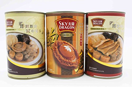 China Good Food Set-10 Canned abalones x Seafood Fotiaoqiang x Abalone Fotiaoqiang Free Airmail by China Good Food