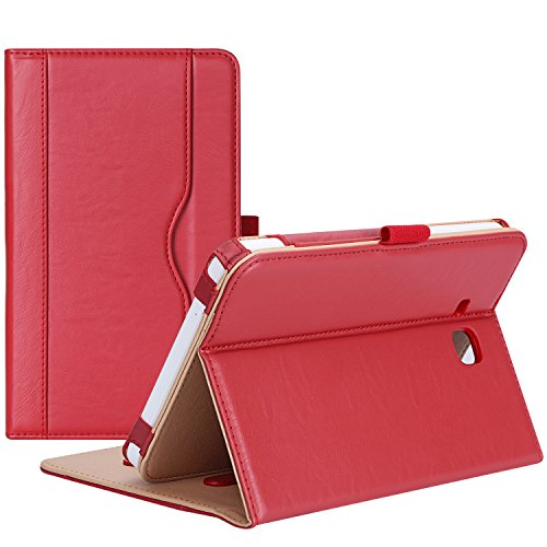 ProCase Galaxy Tab E Lite 7.0 Case/Tab 3 Lite 7 Case - Stand Folio Case Cover for Galaxy Tab E Lite 7-inch Tablet/Tab 3 Lite 7, with Multiple Viewing Angles, Document Card Pocket (Red) (Samsung Galaxy Tab 3 Lite T110 Review)