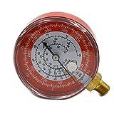 Nikauto Car Repair Tool Air Conditioning High (Red) Pressure Gauge Refrigerant R134A R404A R22 R12 0-35KG/cm2 and 0-500PSI