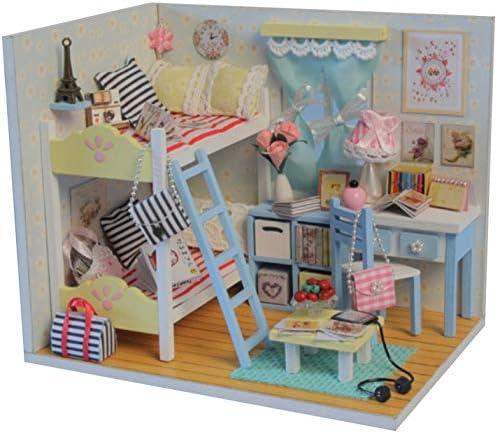 Sueño Infantil Mini-casa Memoria para jóvenes Cabaña de Madera Villa Asamblea Modelo cumpleaños para niños Regalo: Amazon.es: Juguetes y juegos