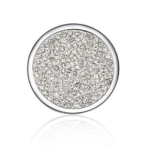 TEJ - Collar de moneda intercambiable para colgante intercambiable, blanco (pendiente no incluido)