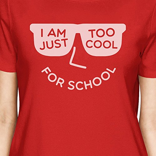 Manches Unique Taille School 365 shirt T For Femme Red Printing Courtes Cool Too qY0CtY