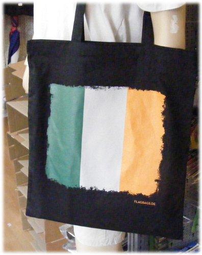 Irland - Flagbag Tasche mit Flagge Schwarz