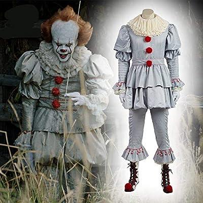 LLWGNZM Mascara-Máscara Pennywise Horror Payaso Joker Máscara ...