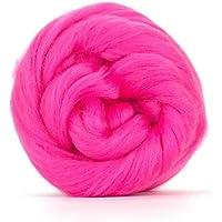 Rosa Ciliegia Merino Wool Roving/Tops–50GM. Ideale per infeltrimento Bagnato/ago infeltrimento e progetti di Rotazione a Mano.
