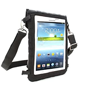USA Gear FlexARMOR X Tablet Cover Carrying Case with Touch Capacitive Screen Protector and Adjustable Shoulder Strap for Samsung Galaxy Tab , ASUS GOOGLE Nexus 7 FHD & More 7-inch Tablets!