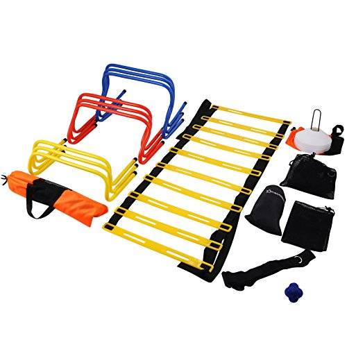 VEVOR Speed Agility Training Kit Combo Set Football Training Kit Exercise and Fitness Speed Training Equipment with Carry Bag for Both Junior and Senior Training (Ultimate Multi Speed Agility ()
