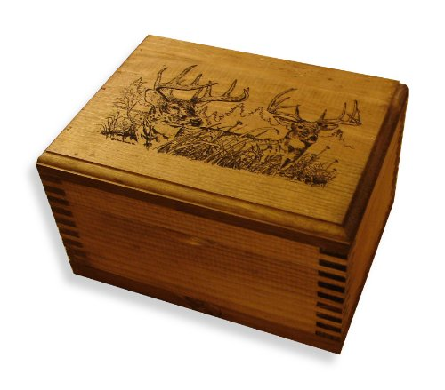 Evans Sports Mini Ammo Box, Two Trophy Deer ()