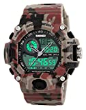 Gosasa Multi Function Military S-shock Camouflage Red Sports Watch LED Digital Waterproof Alarm Watches
