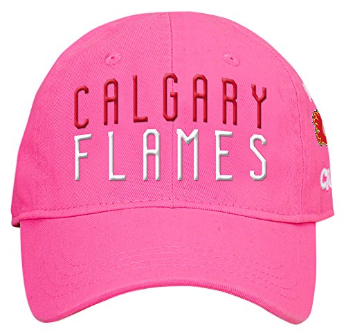 online store 37b48 6c405 Outerstuff NHL Calgary Flames Children Girls My First Slouch Hat, 1 Size,  Pink