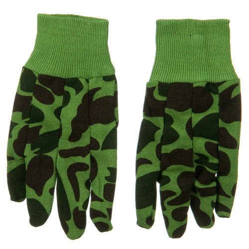 Acrylic Jersey Knit Glove - Woodland -