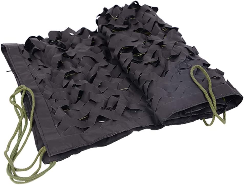 黒迷彩ネッティング2×3メートル軽量陸軍迷彩シェードネッティングサンシェード布ガーデンネッティングブラック用キャンプシェルターウッドランド迷彩撮影隠す (Size : 7x10m)  7x10m