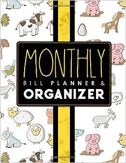 monthly bill planner organizer bill payment ledger money budget