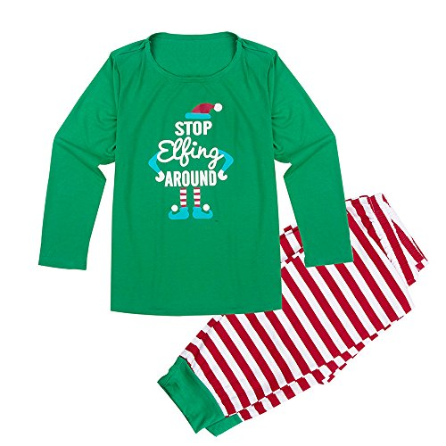 Christmas Pajamas for Family Women Mother Xmas Pjs Set Stripe Sleep Lounge wear Two-pieces Outfits (S, (Mens Xmas Outfits)
