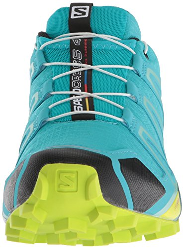 Salomon Women's Speedcross 4 W Trail Running Shoe, Bluebird/Acid Lime/Black, 5.5 B US by Salomon (Image #4)